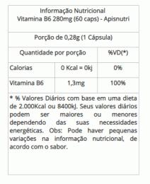Vitamina B6 - 280mg (60 caps)