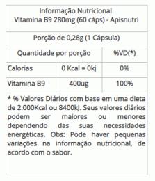 Vitamina B9 - 280mg (60 caps)